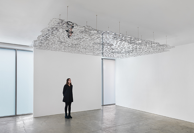Teresita Fernández, <i>Untitled (Silver)</i> Installation view, 2016<br>Photo by EPW Studio/Maris Hutchinson