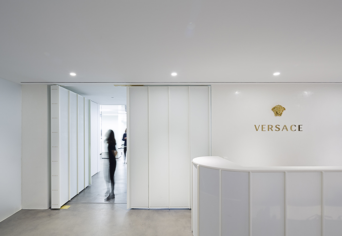Versace Showroom, design by SO-IL<br> Photograph by Andre Herrero