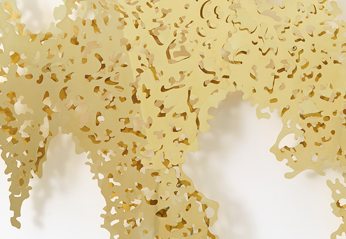 Teresita Fernández, <i>Ghost Vines (Yellow Gold)</i><br>Image Courtesy of the artist and Lehmann Maupin
