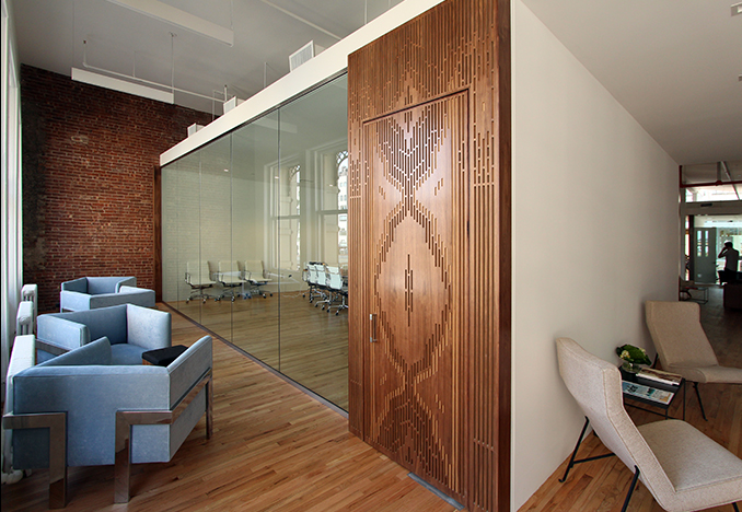 Johannes Leonardo Office, New York NY, design by Allied Works Architecture