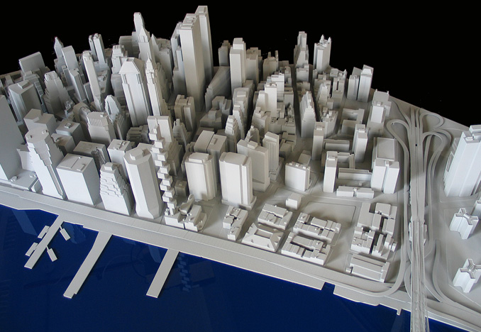 Lower Manhattan Site Model for SHoP Architects