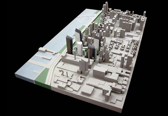 Riverside Development and Upper East Side Site Model for Extell Development