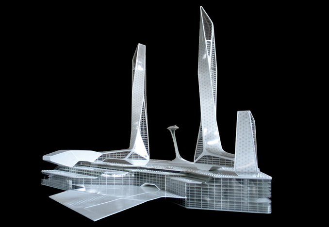 Penang Global City Center, presentation model<br>for Asymptote