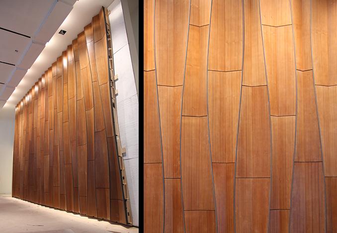 Wooden Cladding Wavy ~ Situ fabrication