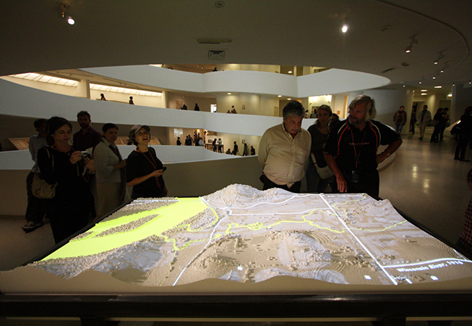 Taliesin East Model: Aerial photographs projected onto the model's surface